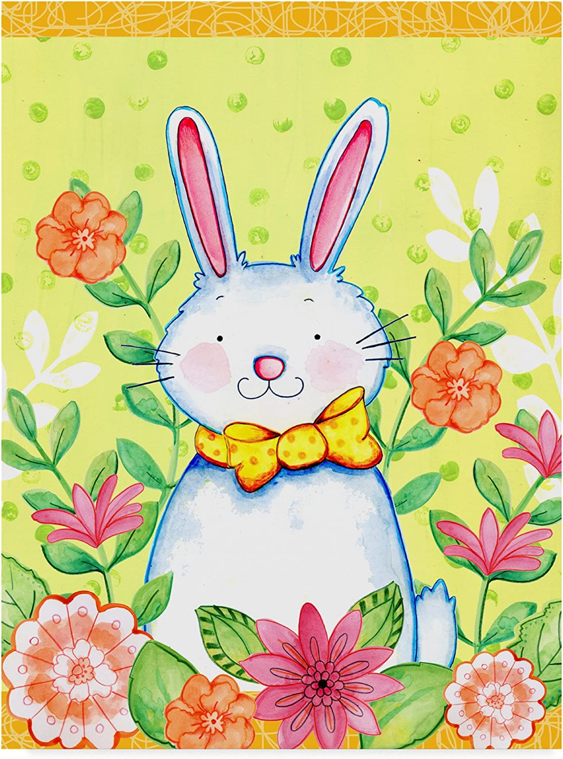Flowers And Bunny by Valarie Wade, 14x19Inch