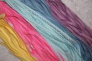 LOT 8.75 yds DIY tie headband FOLDOVER stretch elastic FOE 5//8 make 27 hair ties