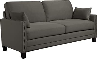 Amazon.com: Alicante Gray Loveseat Bench: Kitchen & Dining