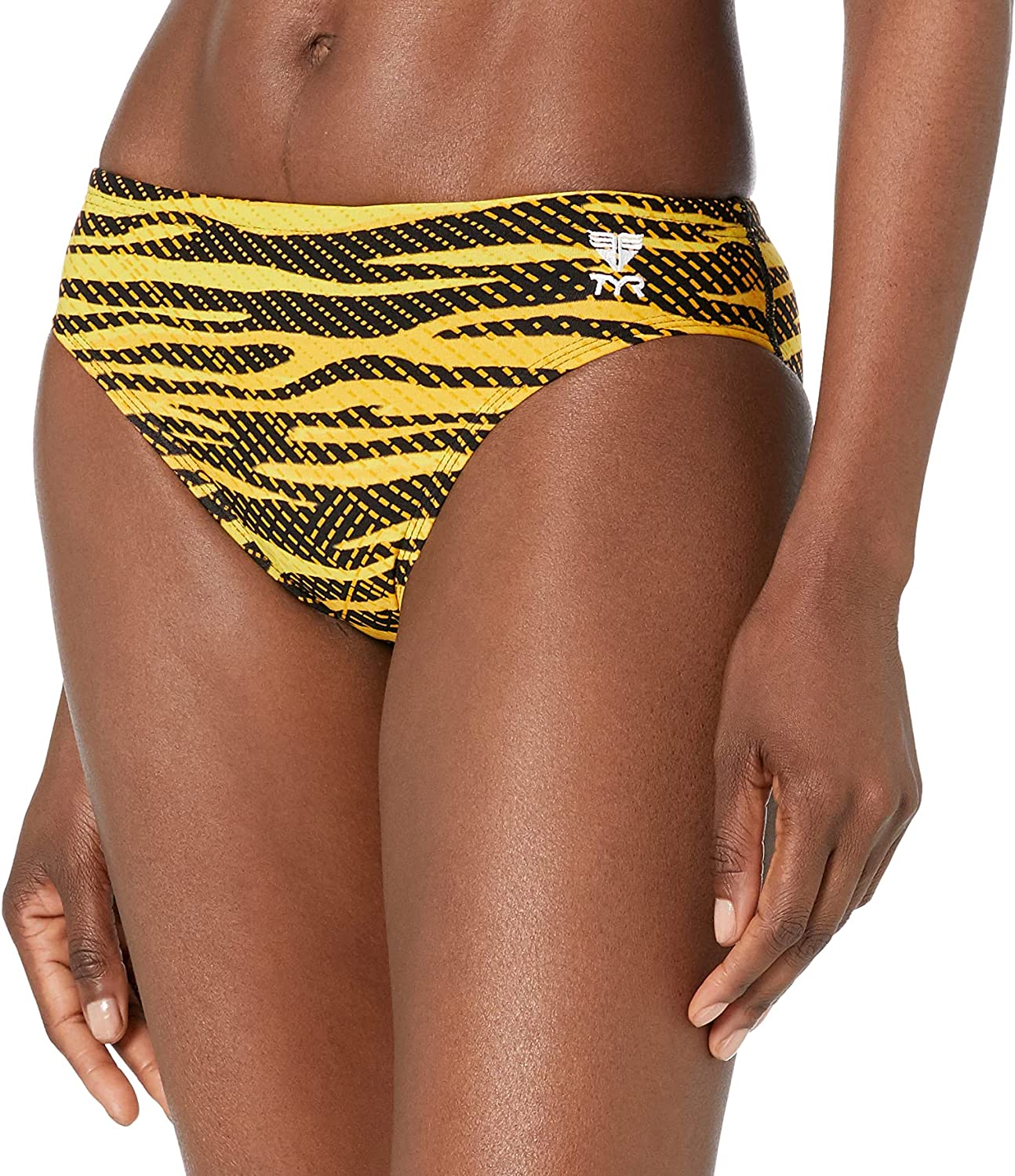 TYR RCR7A838 Al sold OFFicial out. Crypsis Alvr Racer 38 Gold Black Swimsuit