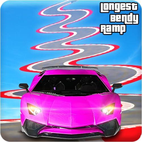 Longest Vertical Bendy Ramp Car Racing Stunts Games