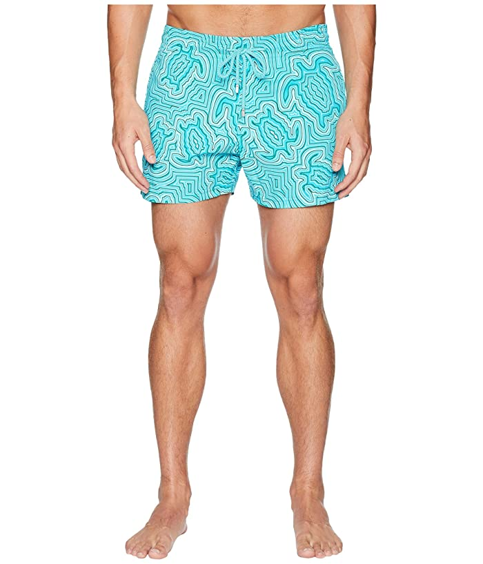 Vilebrequin Moorise Tortues Hypnotiques Swim Trunk (Curacao) Men