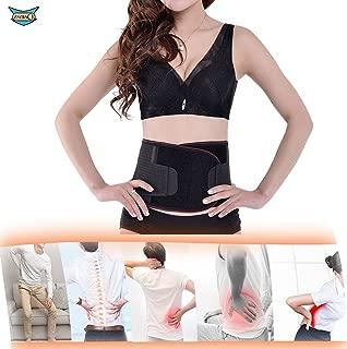 ZSZBACE Adjustable Lumbar Lower Back Support Belt Massage Brace Self-heating Magnetic Therapy Belt Relieve Pain And Stress- Unisex Lower Back Brace Waist Trimmer- Black (XL)