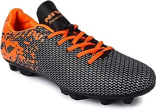 Nivia Premier Carbonite Range Football Studs, Men's UK 10 (Black/Orange)
