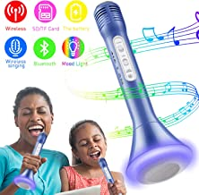 Wireless Karaoke Microphone, Kids Microphone with Bluetooth Speaker, Karaoke Mic Portable..