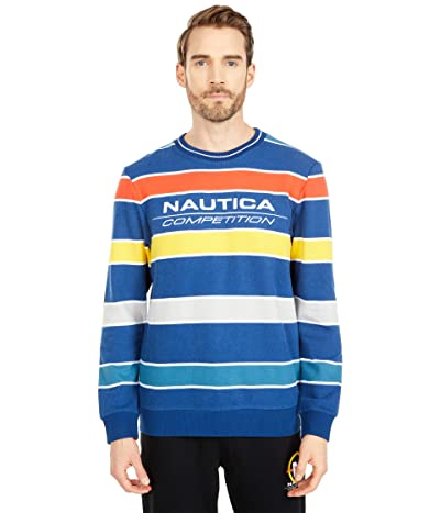 Nautica Competition Crew Neck Fleece (Navy) Men