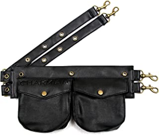 Women's Steampunk Gothic Leather Pouch Belt Corset Costume Accessories