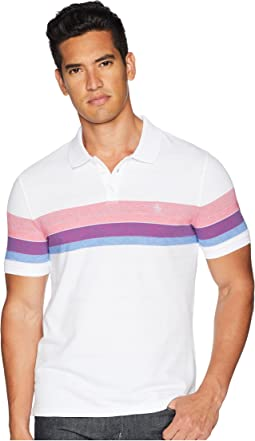 Short Sleeve Engineered Stripe