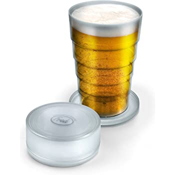 Fred Port-A-Pint Collapsible Beer Glass, Clear