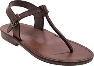 women's leather sandals flat