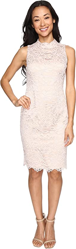 Lace High Neck Bodycon Dress