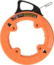 Klein Tools 56001 Fish Tape, 50-Foot Long x 1/8-Inch Wide Steel Pull Line, for Heavy Duty Wire Pulls, Updated Model Cat. N...