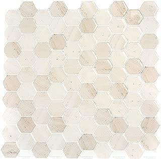 Peel and Impress - Easy DIY Peel and Stick Adhesive Backsplash Tiles, 24036 Golden Brown Hex, 10.5