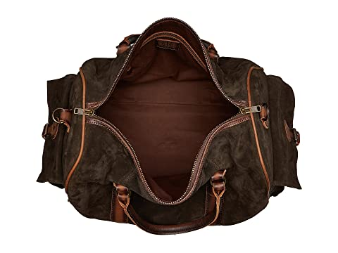 STS Ranchwear Heritage Duffel Bag Chocolate Suede/Tornado Brown Good Selling Cheap Online Purchase Your Favorite  Pre Order Cheap Price YtdgpdsHKI