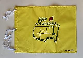 Tiger Woods Autographed 2019 Masters Pin Flag. Signed. UDA COA. LE #444/1000