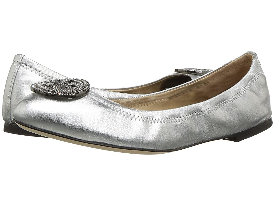 Tory Burch Liana Ballet Flat (Silver) Women