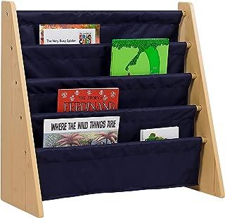 Wildkin Sling Bookshelf, Natural with Blue