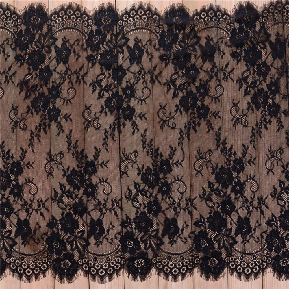 3 Yards Eyelash Lace Fabric Trims Sewing Pattern Floral El Paso shopping Mall for
