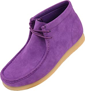 The Original Men's Faux Seude High Top Casual Boots with Crepe Rubber Like Sole, Style Jason, Runs Small Size 1 UP