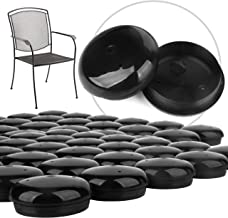 """32 Pack 1-1.5"""" Patio Furniture Glides/Feet/Caps for Wrought Iron Outdoor Furniture – Protect Your Floor Surfaces from Scratches, Replacement for Eight Chairs (with 4 Legs), Easy to Install Impresa"""