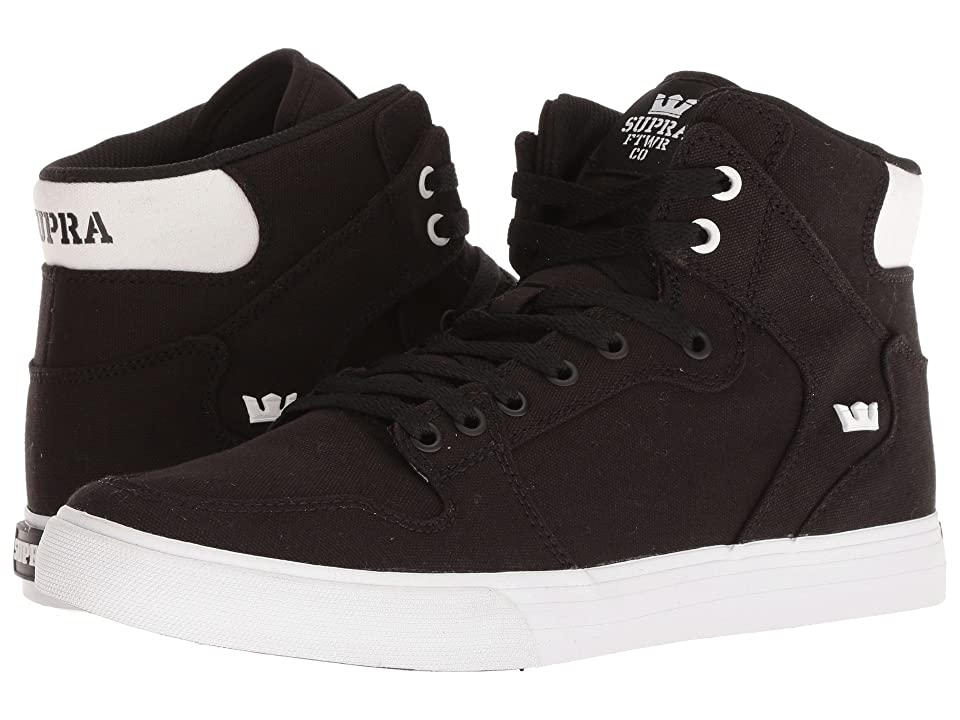 Supra Vaider (Black/White/White/Black) Skate Shoes