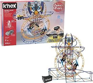 K'NEX Thrill Rides - Bionic Blast Roller Coaster Building Set with Ride It App - 809Piece - Ages 9 Building Set