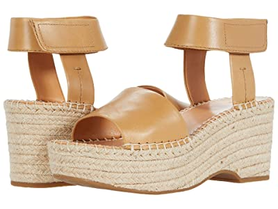 FRYE AND CO. Amber Espadrille Wedge (Caramel Waxed Leather) Women