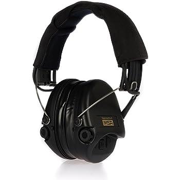 MSA Sordin Supreme Pro X - Casque Anti-Bruit, Noir/Noir, Avec Câble AUX, Taille Unique
