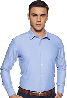Amazon Brand - Symbol Men's Plain Slim Fit Formal Shirt