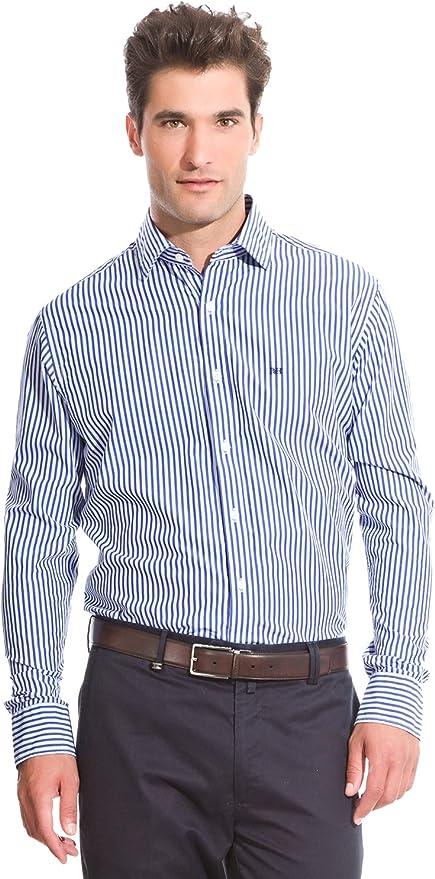Pedro del Hierro Camisa Non Iron Classic Azul M: Amazon.es: Ropa
