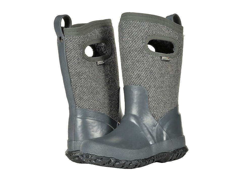 Bogs Kids Crandall Wool (Toddler/Little Kid/Big Kid) (Dark Gray) Girls Shoes
