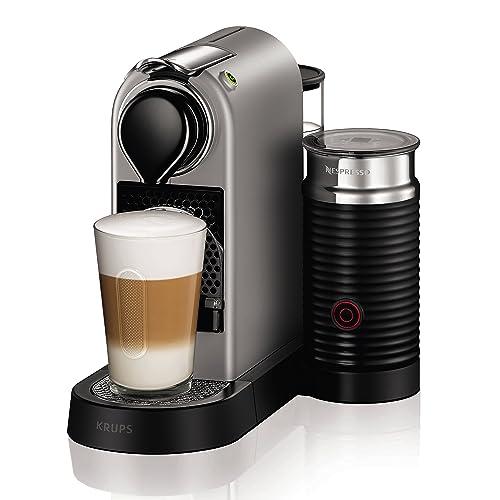 Nespresso Krups Citiz XN760B - Cafetera monodosis de cápsulas Nespresso con aeroccino, compacta, 19