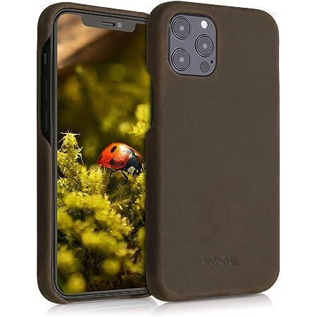 kalibri Carcasa Compatible con Apple iPhone 12 Pro MAX - Funda de Cuero para móvil - Cover Trasero en marrón