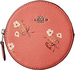 Floral Bow Round Coin Case