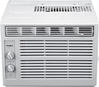 Whirlpool 5,000 BTU 115V Window-Mounted Air Conditioner with Mechanical Controls, White