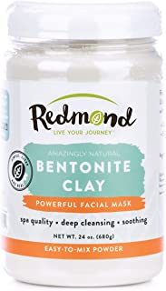 Redmond Clay - Bentonite Facial Mask , Soothing Mud Mask | Clay of 1000 Uses, 24 Ounce