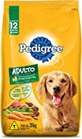 Ração Pedigree Carne e Vegetais Para Cães Adultos Raças Médias e Grandes 20 kg