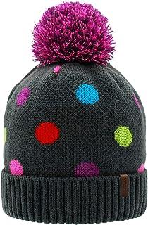 Pudus Kids Beanie Hat with Pom Pom، قبعات شتوية مبطنة شيرباا للبنين والبنات