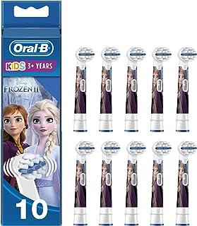 Oral-B Kids Testine di Ricambio per Spazzolino Elettrico con Disney Frozen 2 Personaggi, Confezione da 10, Testina Pensata...