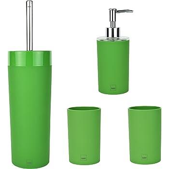 3 Pezzi Excelsa Set Accessori Bagno Verde