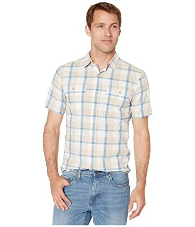 Royal Robbins Point Lobo Short Sleeve Shirt (Light Khaki) Men