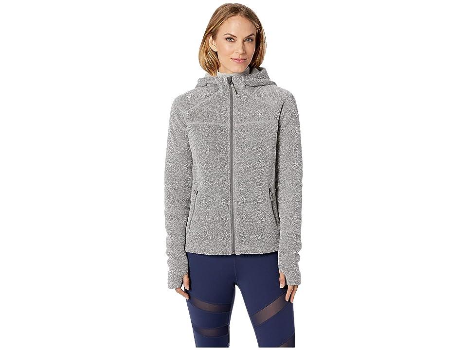 Smartwool Hudson Trail Full Zip Fleece Sweater (Light Gray) Women