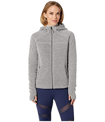 Smartwool Hudson Trail Full Zip Fleece Sweater (Light Gray) Women