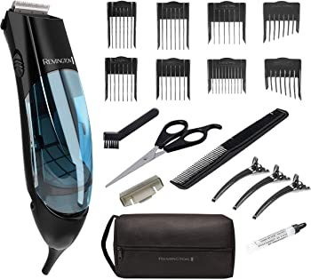Remington HKVAC2000A 18-Pieces Vacuum Haircut Clippers Trimmer