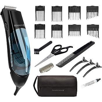 Remington HKVAC2000A Vacuum Haircut Kit, Vacuum Beard Trimmer, Hair Clippers for Men (18 pieces)
