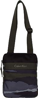 Calvin Klein Cooper Camo Flat Crossover Borsa Messenger, 75 cm, Cargo Print