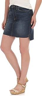 Wrangler Women's Retro Mae Mid Rise Stretch Jean Skirt