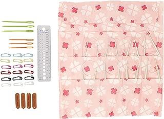 Mehousa 16-inch Aluminum Circular Knitting Needles Set of 9 with Bonuses by KnitPal I Durable & Snag-Free Metal Circle Needles Kit | Great Knitters Gift (US Sizes 3,4,6,7,8,9,10,10.5,11) (16 Inches)