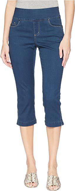 D-Lux Denim Pull-On Capris in Indigo
