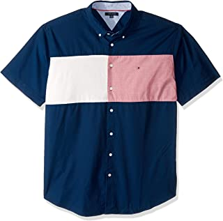 Tommy Hilfiger Men's Big and Tall Button Down Short Sleeve Shirt Oxford
